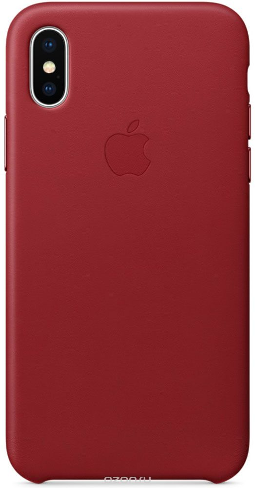 Apple Leather Case, Red чехол дл¤ iPhone X